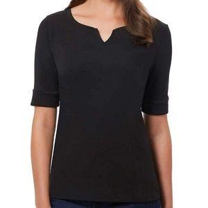 ELLEN TRACY Women's Cotton V-Neck Top. Size L - XL